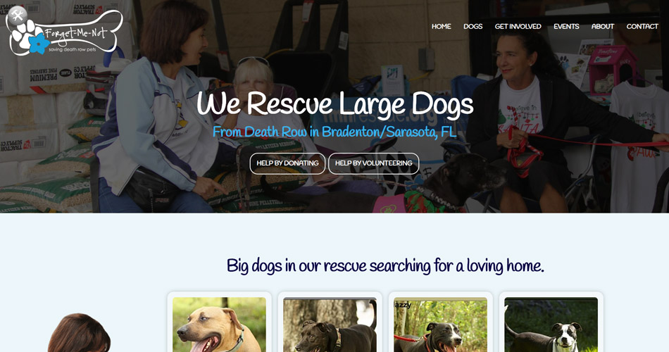 New Website for Forget-Me-Not Dog Rescue
