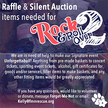 Rock & Roll Over Raffle & Silent Auction Items Needed